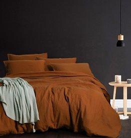 Daniadown Duvet Set Daniadown  Linen Ginger Queen w / Pillow Cases