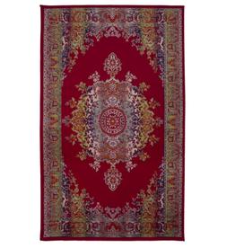 Rugs Avocado Artificial Silk 4'6 x 6'6 Medallion Multi Red