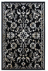 Rugs Avocado Artificial Silk 2'4 x 7'3 Naya Black