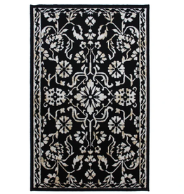 Rugs Avocado Artificial Silk 2'4 x 7'3 Naya Black