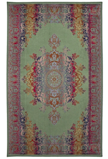 Rugs Avocado Artificial Silk 2'4 x 7'3 Medallion Multi Green