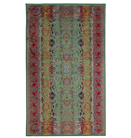 Rugs Avocado Artificial Silk 2'4 x 7'3 Floral Multi Green