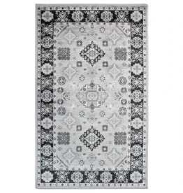 Rugs Avocado Artificial Silk 2'4 x 7'3  Kazak Silver