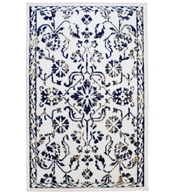 Rugs Avocado Artificial Silk 2'4 x 7'3  Naya Ivory Navy