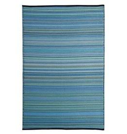 Rugs Viana Fiesta Outdoor Plastic Blue Striped 4 x 6