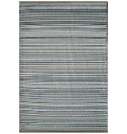 Rugs Viana Fiesta Outdoor Plastic Grey Striped 4 x 6