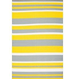 Rugs Viana Fiesta Outdoor Plastic Yellow Stripe 4' x 6'