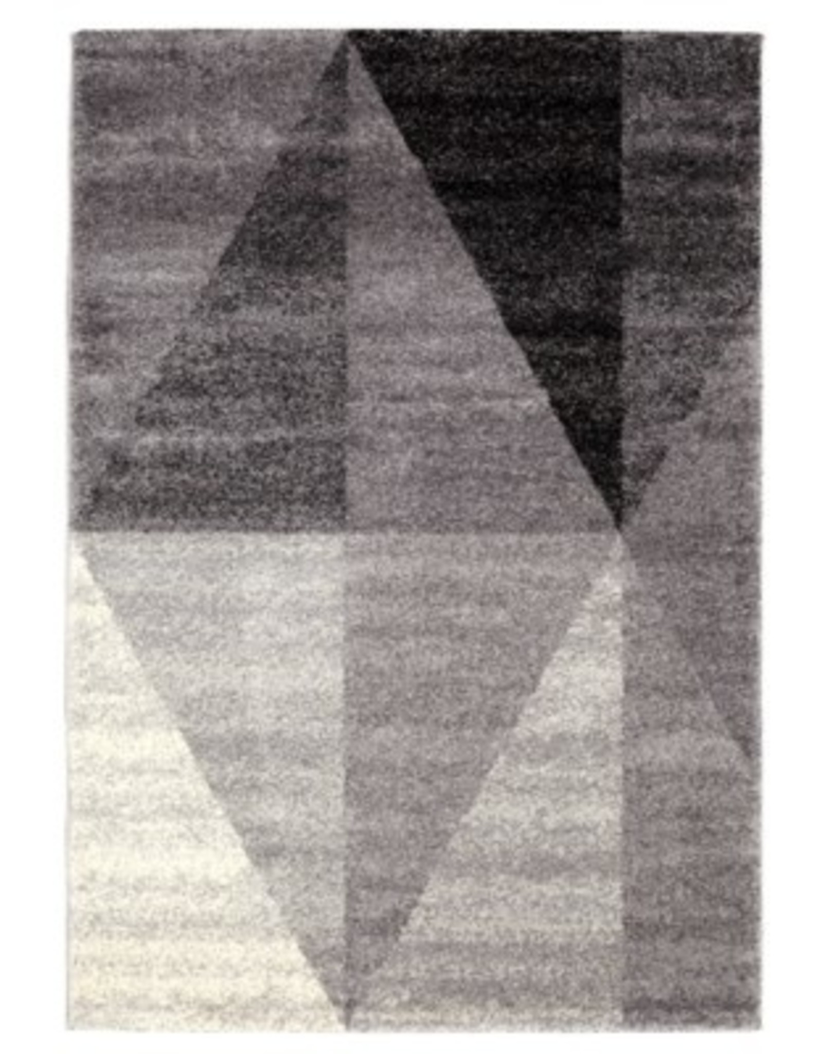 "Rugs Viana Sueno Soft Polypropylene Light Grey White Anthacite 5'3"" x 7'6"""
