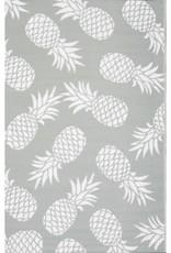 Rugs Viana Fiesta Outdoor Plastic Grey Pineapples 6 x 9