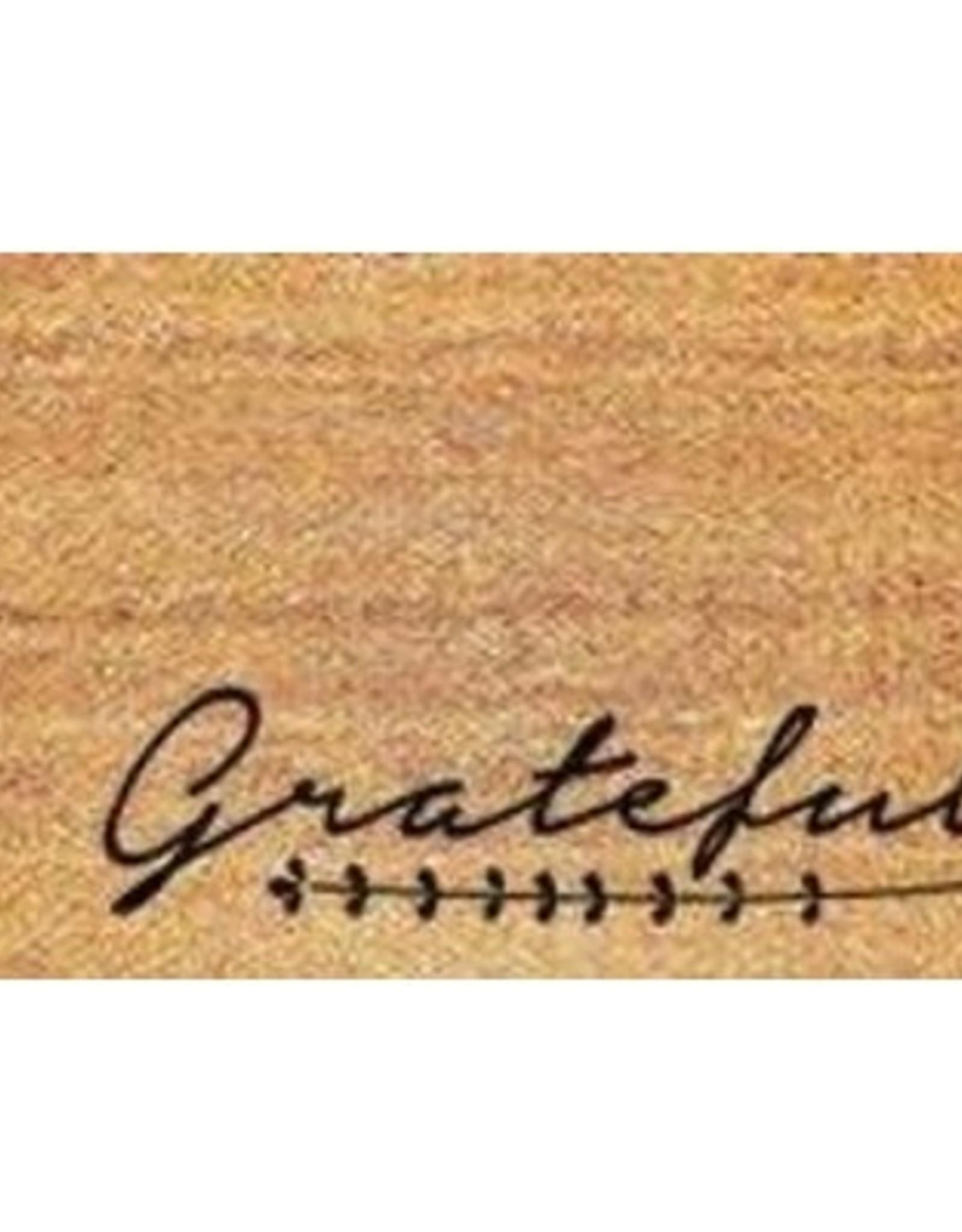 "Rugs Viana Grateful 100% Coir Pile-Vinyl Back 18"" x 30"""