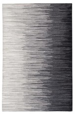 Rugs Viana Printed Polyester Black With Latex Backing 4 x 6