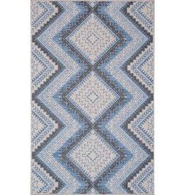 Rugs Viana Carnival Indoor-Outdoor Polypropylene Light Grey Blue 5 x 8