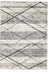 "Rugs Viana Sueno Soft Polypropylene White Anthacite 5'3"" x 7'6"""