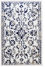 Rugs Avocado Artificial Silk 2'4 x 3'7 Naya Ivory Navy