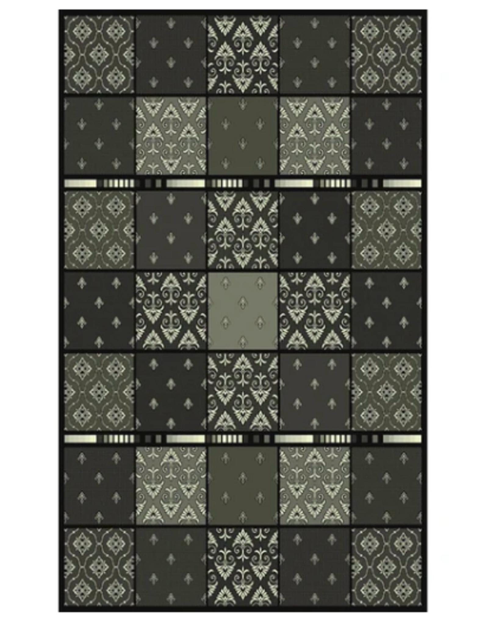 Rugs Avocado Artificial Silk 2'4 x 3'7 Everest Black