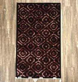 Rugs Avocado Artificial Silk 2'4 x 3'7 Trello Black Red