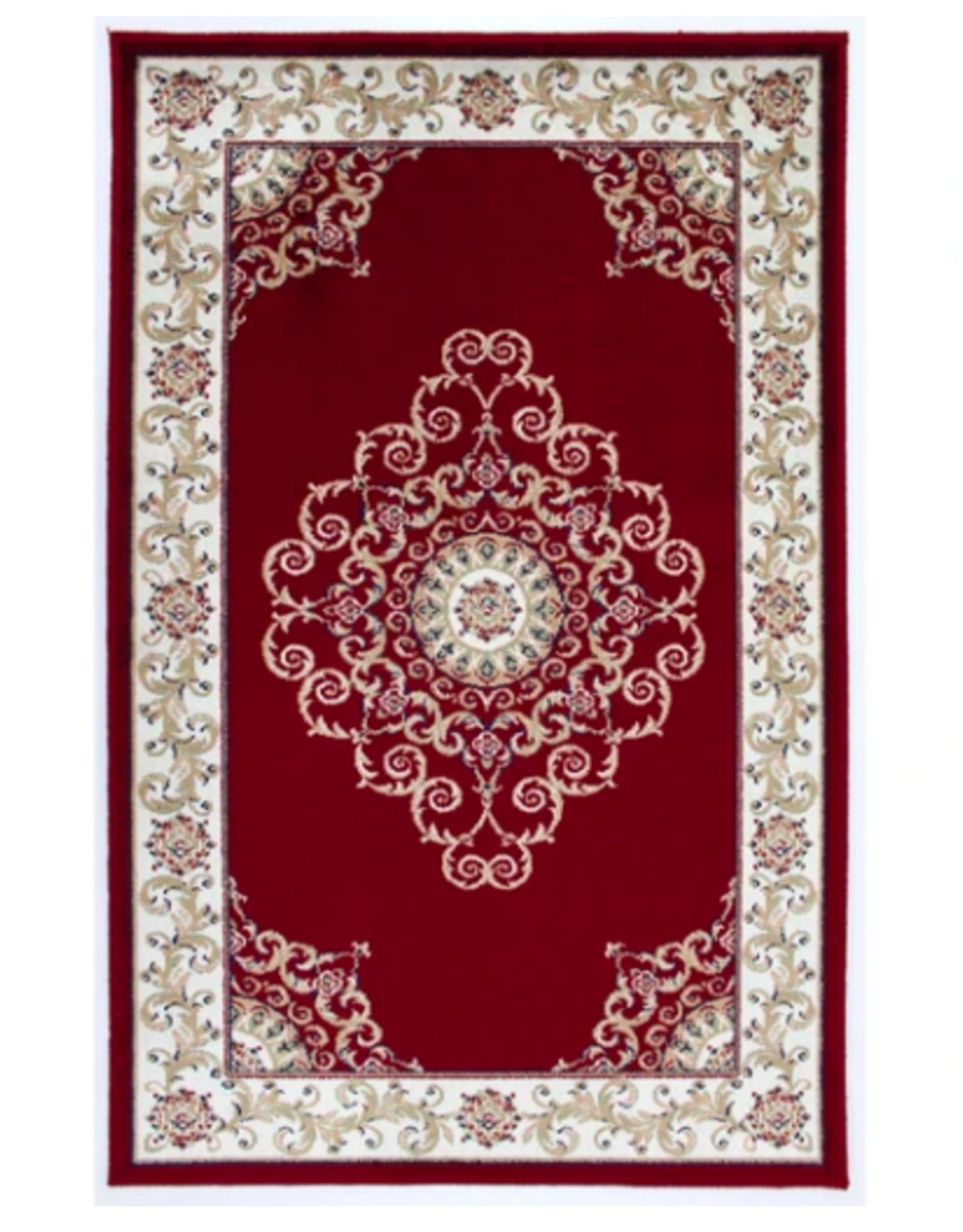 Rugs Avocado Artificial Silk 2'4 x 3'7 Crown Red