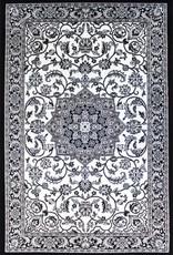Rugs Avocado Artificial Silk 3'3 x 4'6 B&W Persian