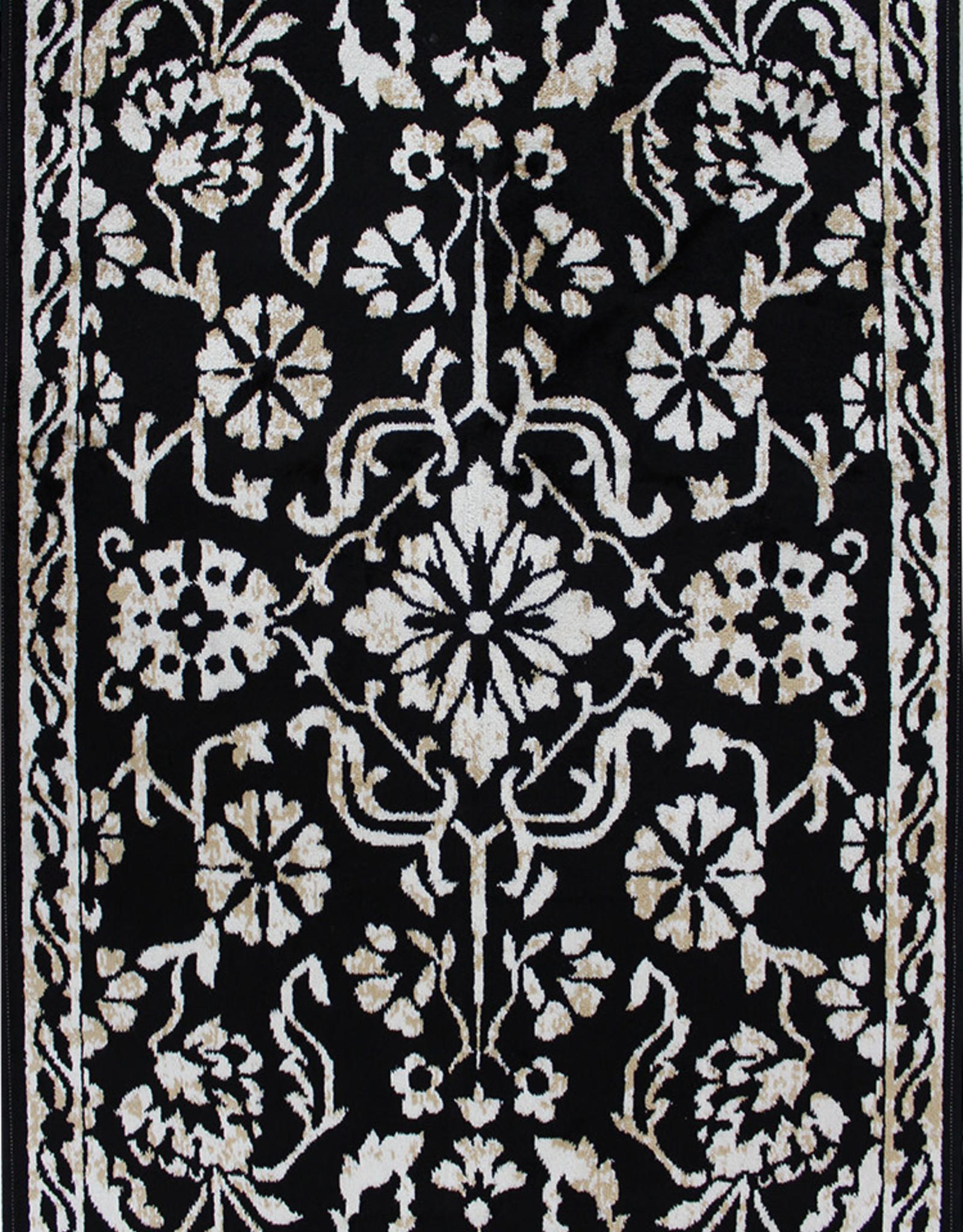 Rugs Avocado Artificial Silk 3'3 x 4'6 Naya Black