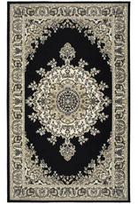 Rugs Avocado Artificial Silk 2'4 x 3'7 Medallion Black