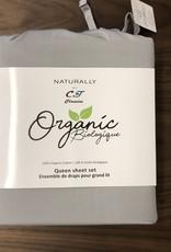 Intermark Sheets Set Intermark Organic Cotton King Light Grey
