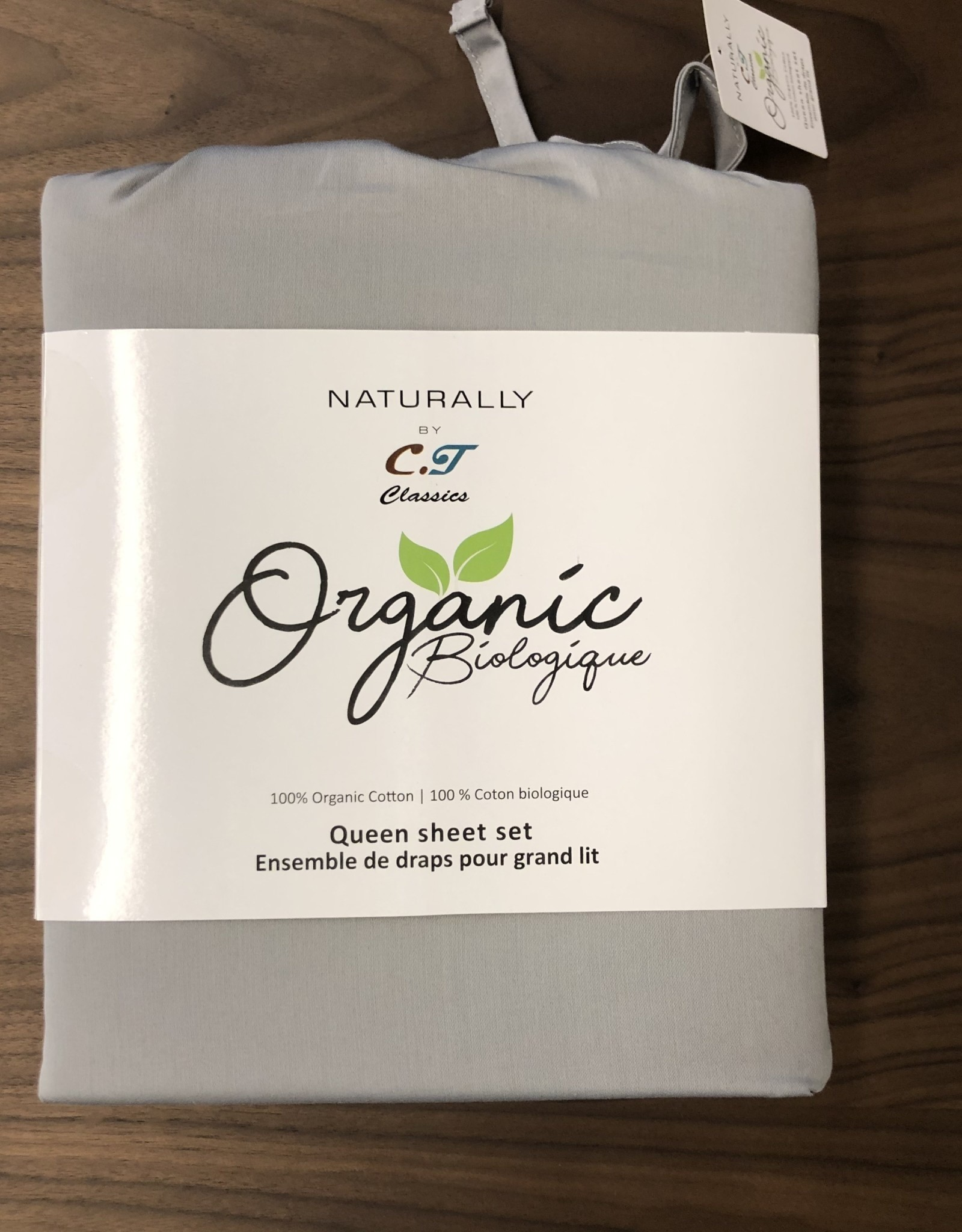 Intermark Sheets Set Intermark Organic Cotton Queen Light Grey