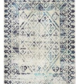 Rugs Viana Printed Polyester Blue With Latex Backing 4 x 6