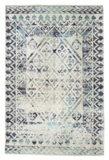 """Rugs Viana Printed Polyester Blue With Latex Backing 2'6"""" x 7'6"""""""