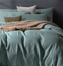 Daniadown Duvet Set Daniadown  Linen Stone Blue King w / Pillow Cases