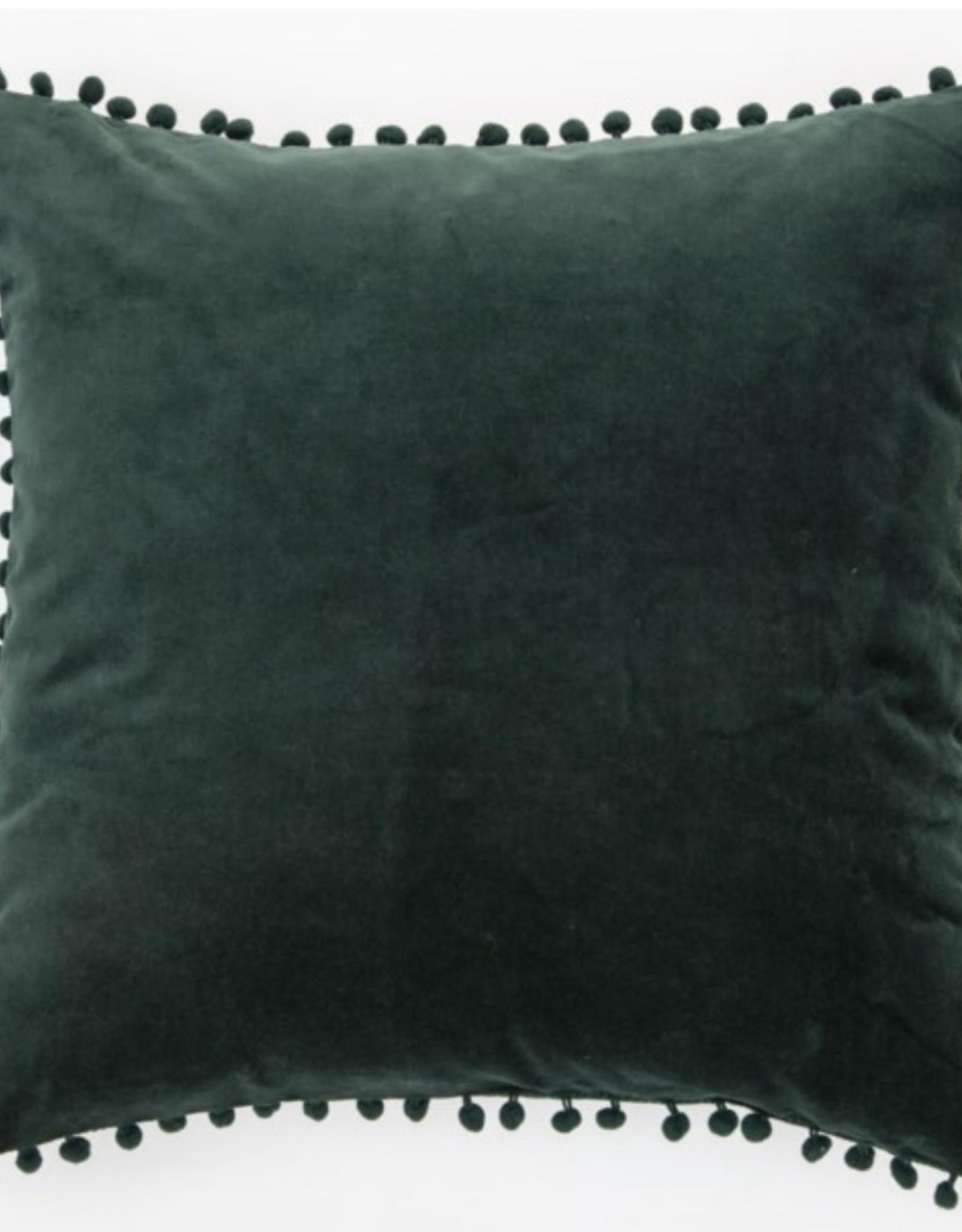 Cushions Brunelli Velvet Dark Green 20 x 20