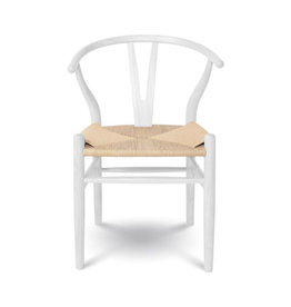 Style In Form SIF Frida Dining Chair White With Blonde Seat FRI-003
