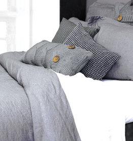 Alamode Home Sheets RJS Morgan Linen Set Queen Grey