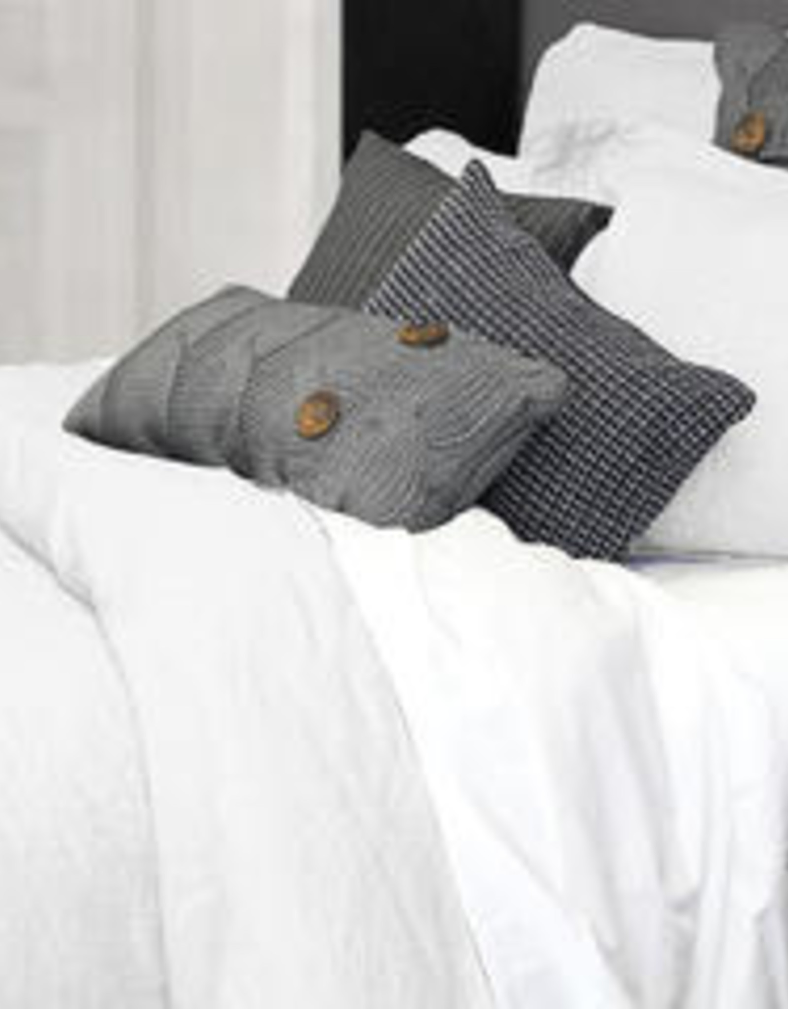 Alamode Home Sheets RJS Morgan Linen Set Queen White