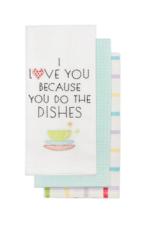 Dish Towel Harman I L U Aqua S/3 0459333
