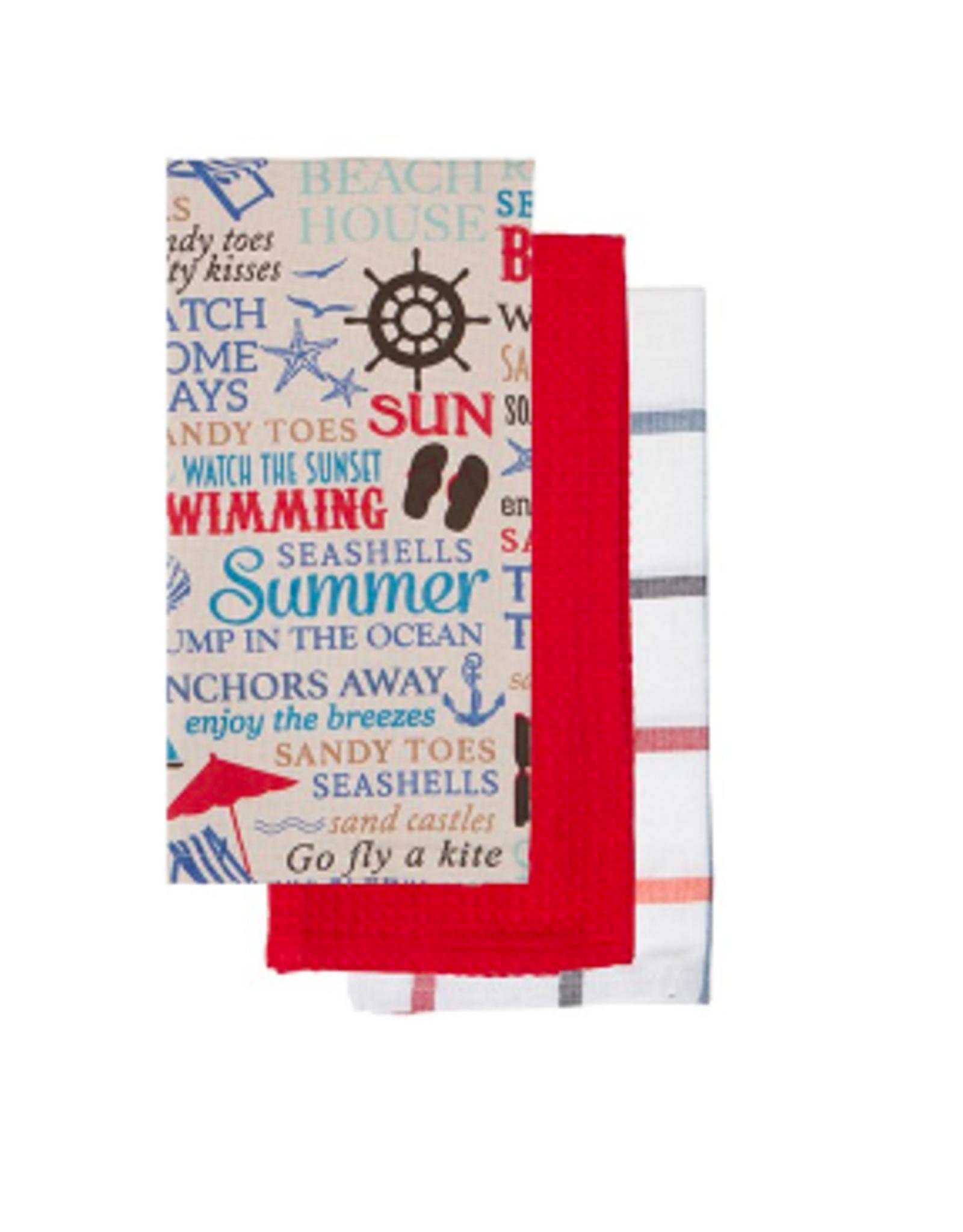 Dish Towel Harman Nautical WRD Red S/3 0497012