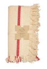 Napkins Harman Set 4 Soft Stripe Red 0977512