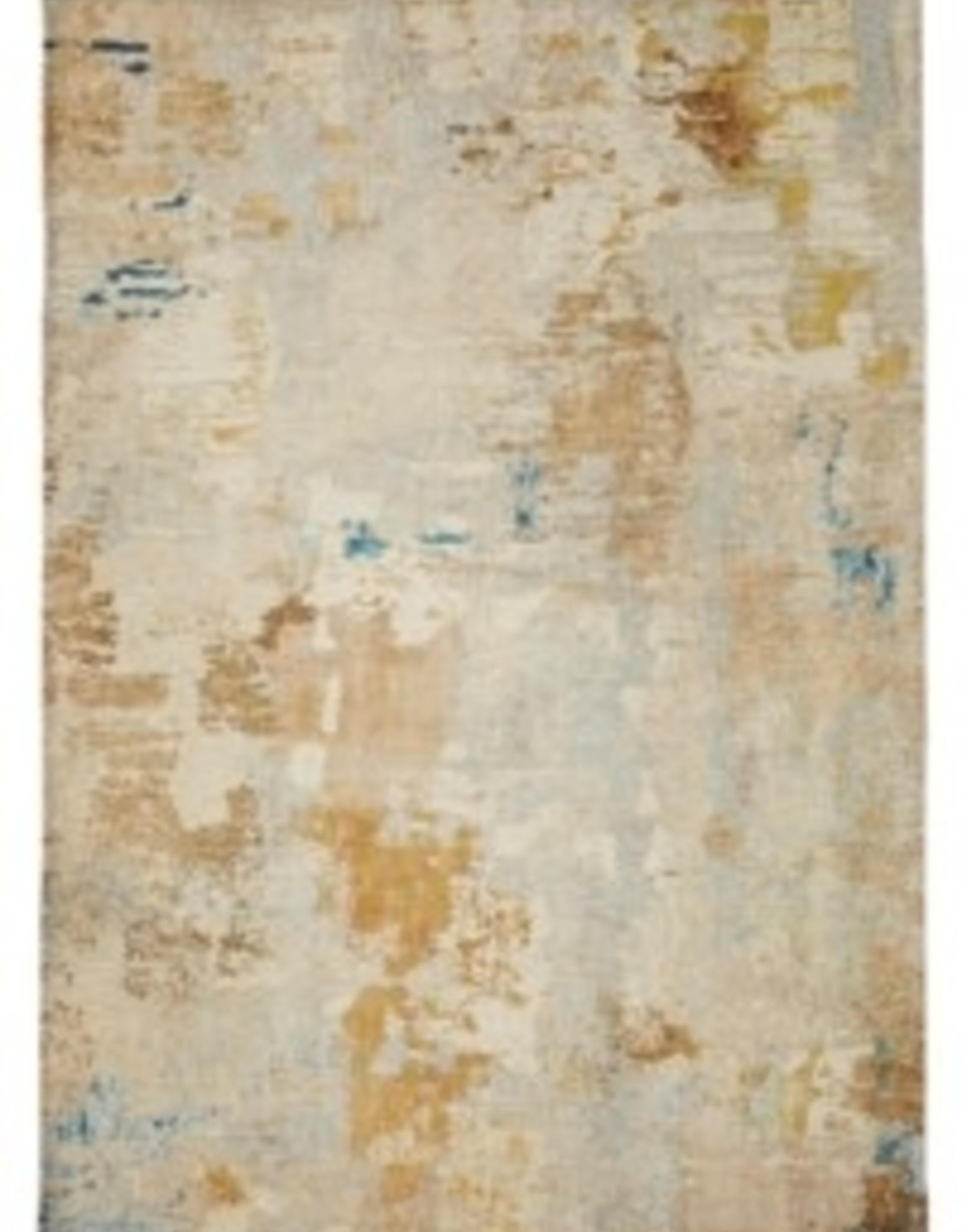 "Rugs Viana Modern Marble Gold Beige Grey 27"" x 45"""