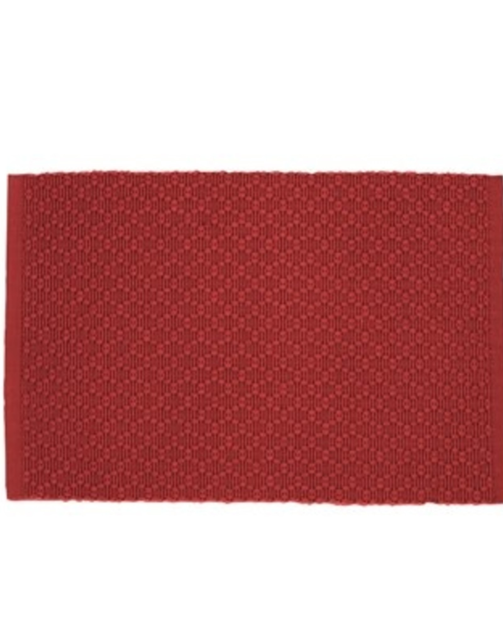 Placemat Harman Diamond Ribbed Woven Red