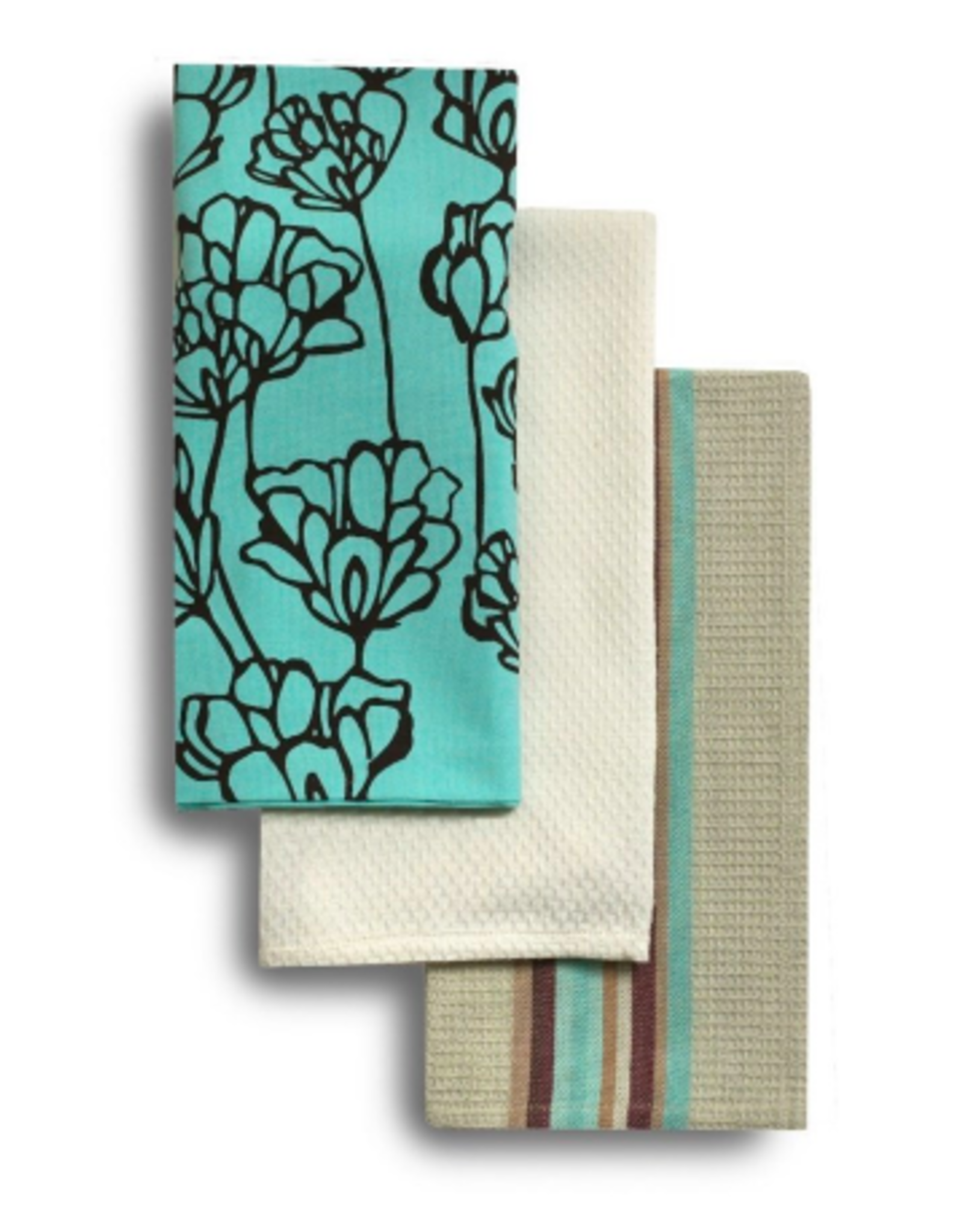 Dish Towel Harman Tulip Print Aqua