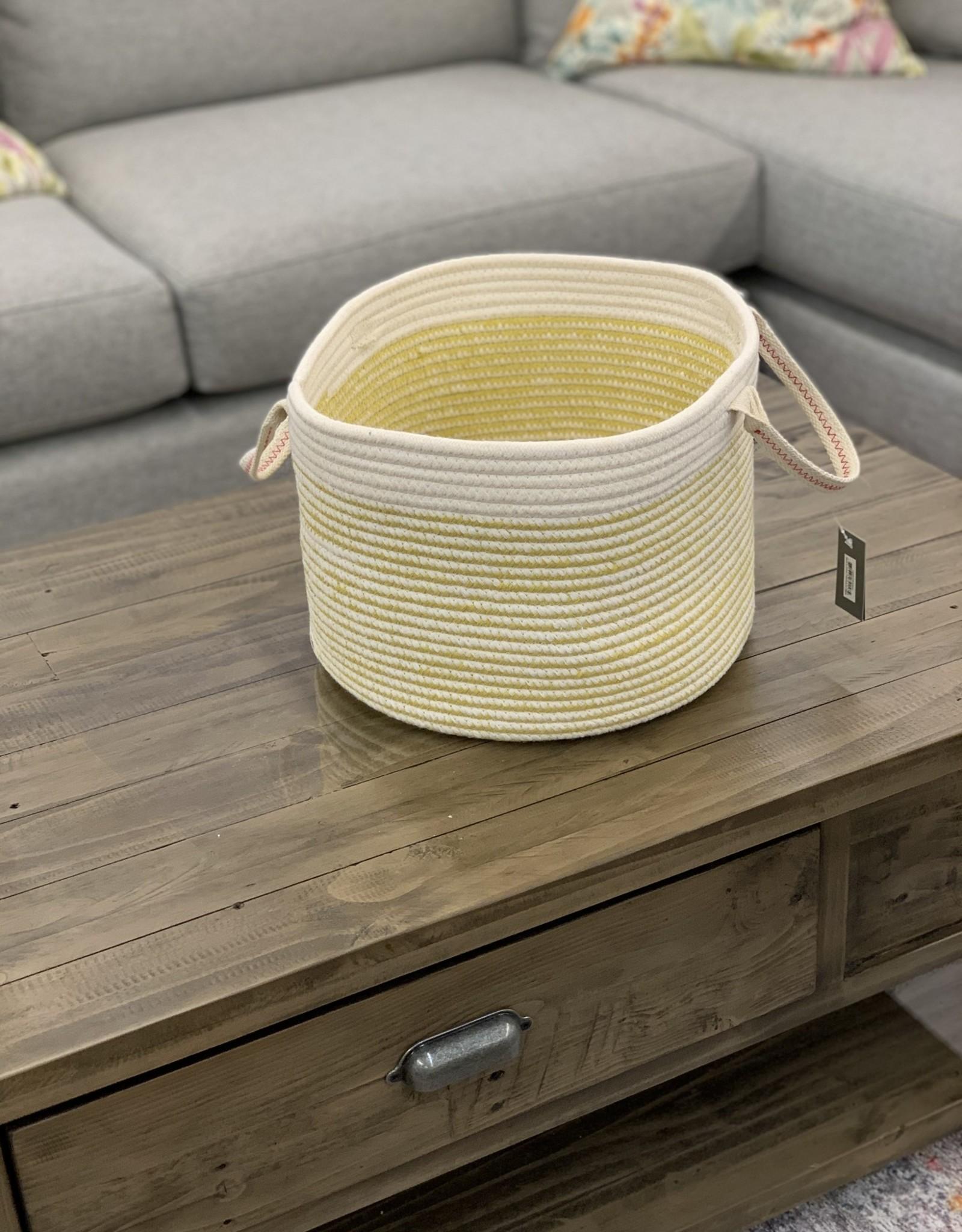 Basket Candym Woven Yellow Small