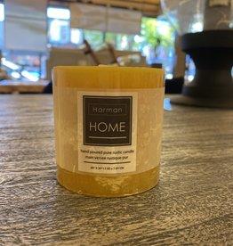 Candle Harman Rustic 3 x 3 Yellow 3323311