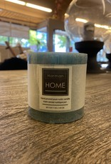 Candle Harman Rustic 3 x 3 Teal 3323389