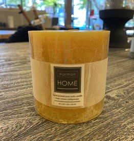 Candle Harman Rustic 4 x 4 Yellow 3324411