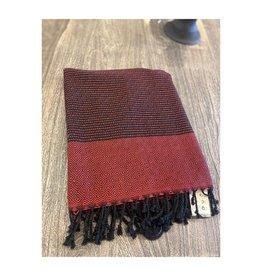 Pokoloko Turkish Towel Red/Black TTB02