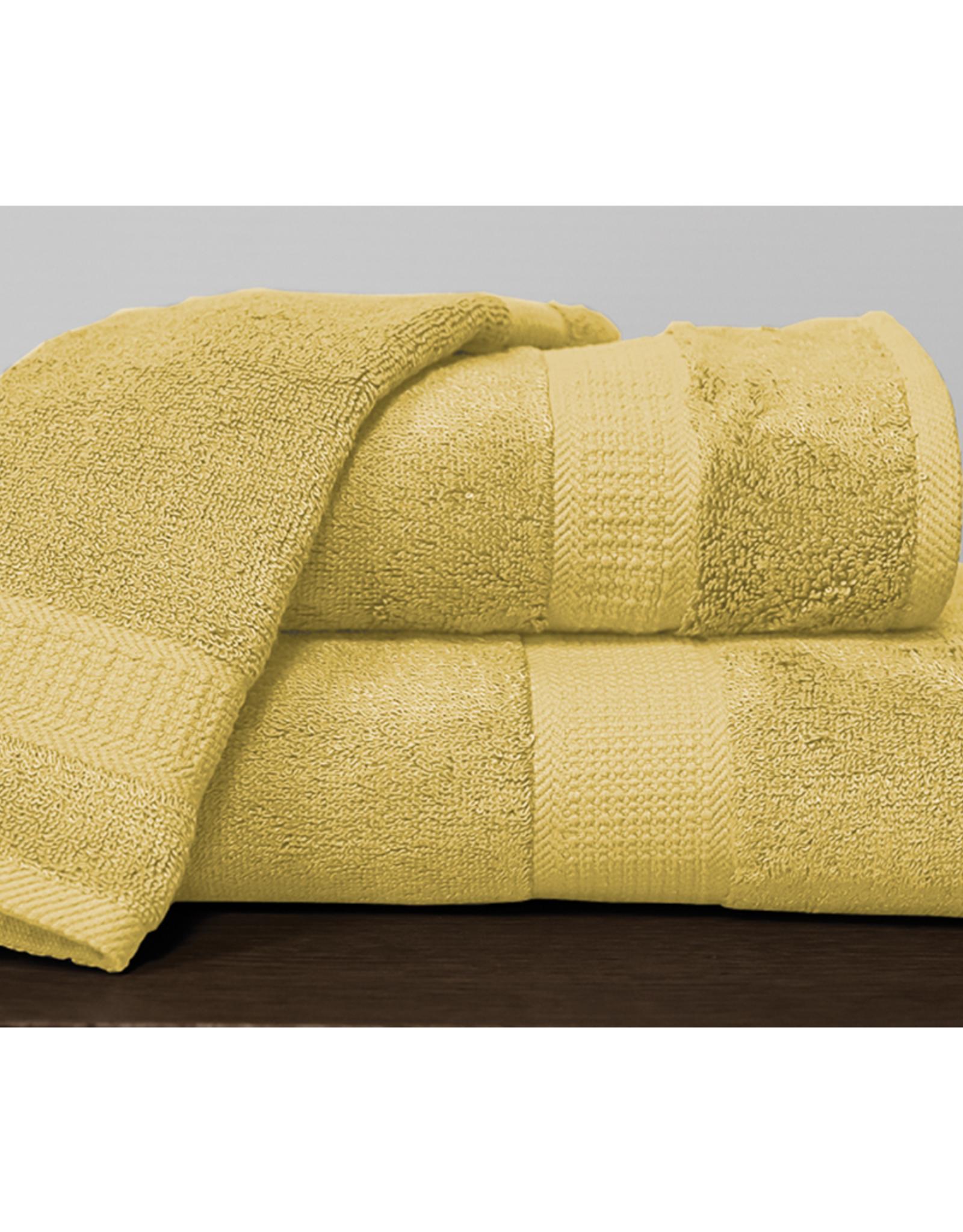 Alamode Home Bath Towel RJS Bamboo Butter Yellow