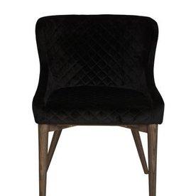 LH Imports LH Mila Dining Chair FZ-04BV Black