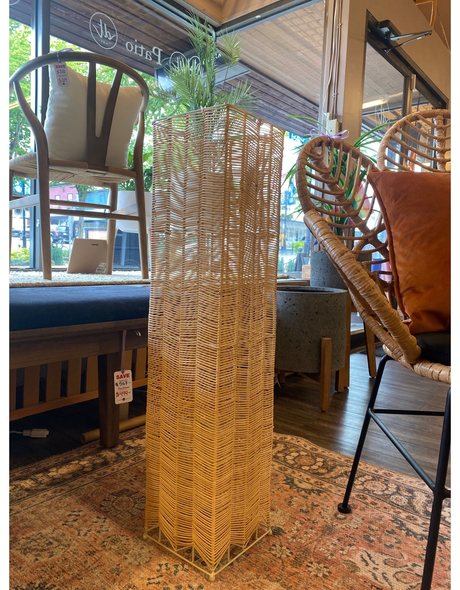 Style In Form Lamp SIF Floor Rattan Natural Square