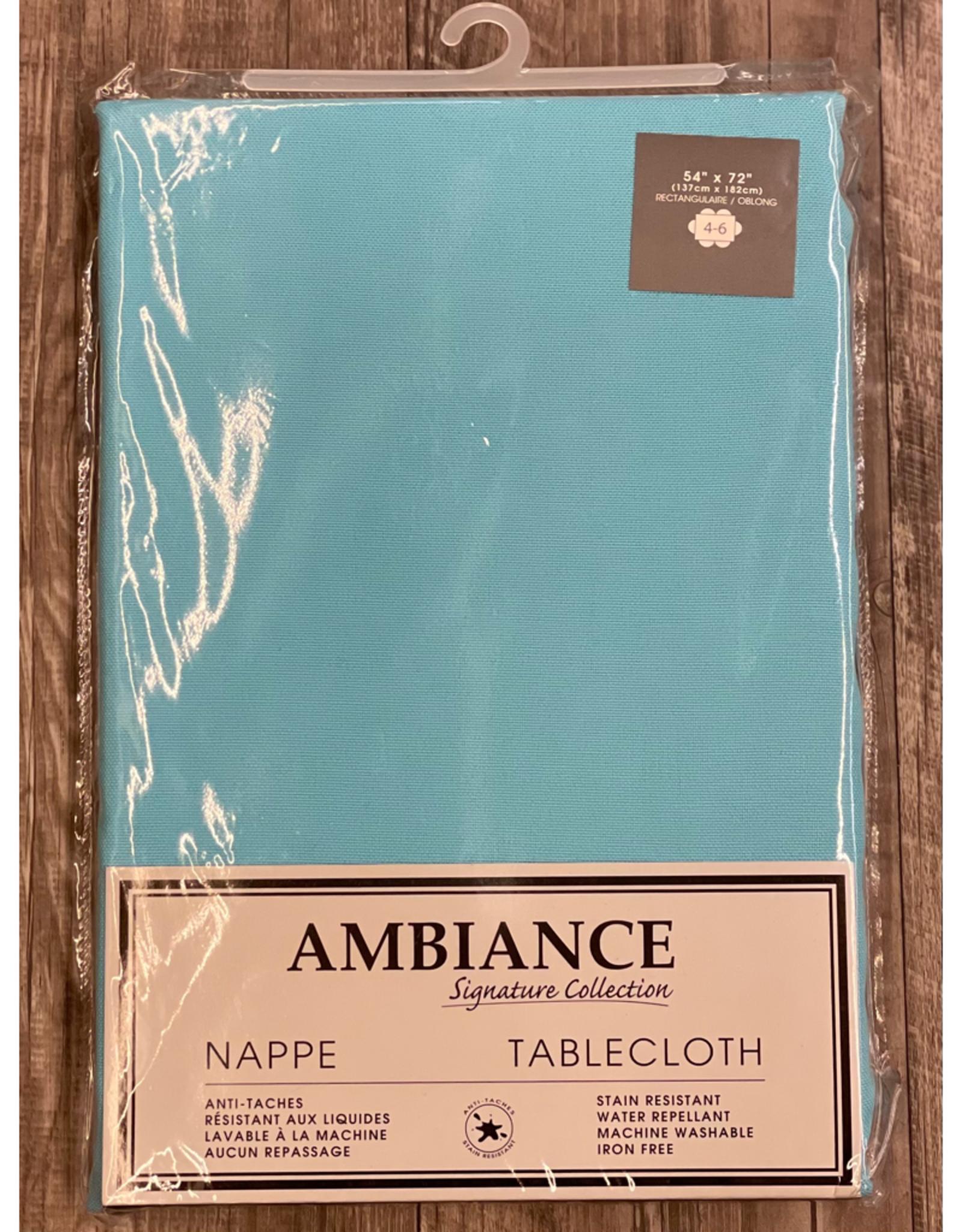 "Table Cloth Tex Styles Soft Touch Blue Aqua 54"" x 72"""