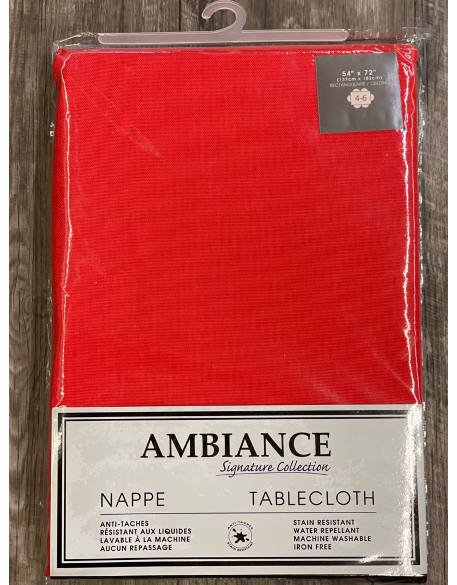 """Table Cloth Tex Styles Soft Touch Red 54"""" x 72"""""""