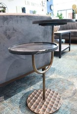 LH Imports LH Portia Side Table Black Marble VSV018